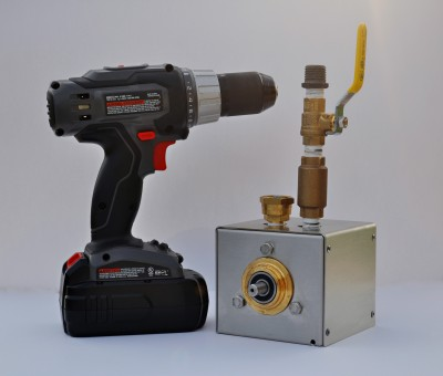 TP-1 Hydrostatic Test Pump and Cordless Drill